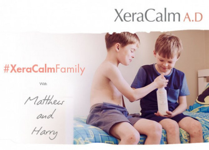 #XeraCalmFamily with Matthew and Harry