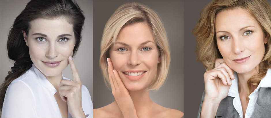 The stages of aging skin