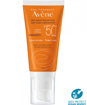Crème solaire teintée SPF50+