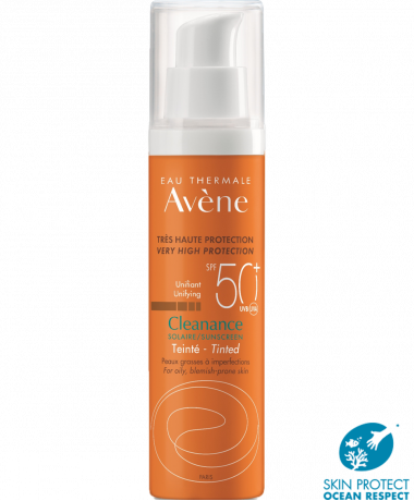 cleanance solar con color spf 50+ anti-imperfecciones