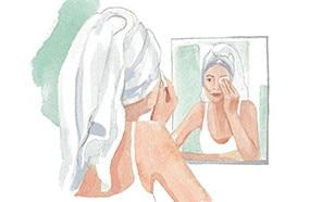 Gesichtspflege für Onkologiepatienten.