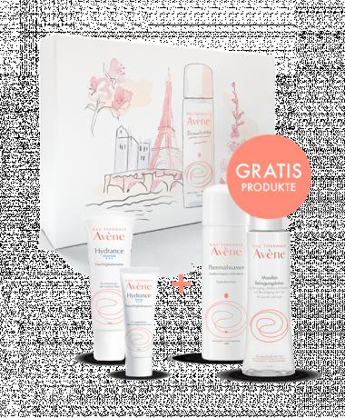 Eau Thermale Avène Beauty Secrets Box mit verschiedenen Produkten