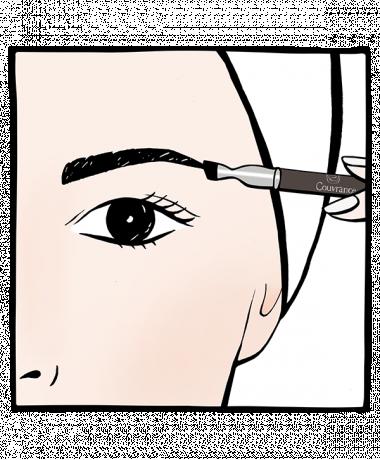 COUVRANCE Augenbrauen-Korrekturstift dunkelbraun und hellbraun
