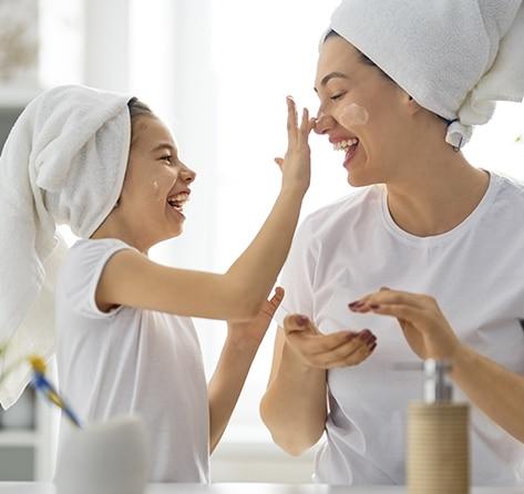 Sesiones de belleza padres e hijos