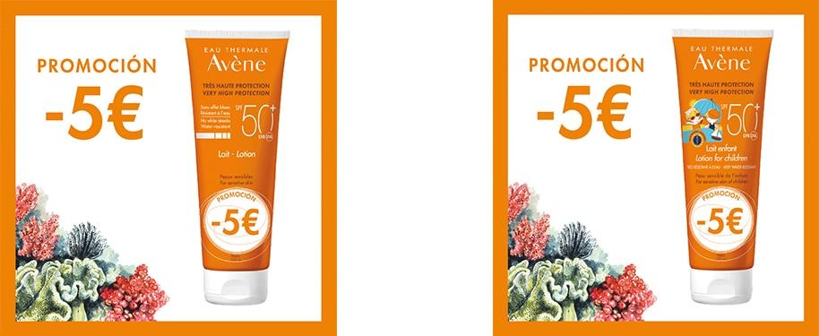 Leche solar SPF 50+ Avène promoción