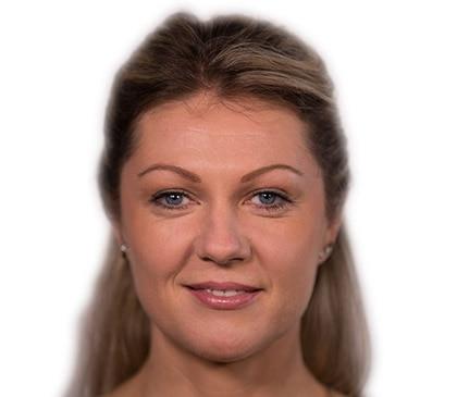 Mannequin après maquillage anti-âge