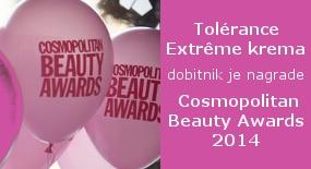 Tolérance Extrême krema osvojila je nagradu COSMOPOLITAN BEAUTY AWARD 2014 po ocijeni stručnog žirija