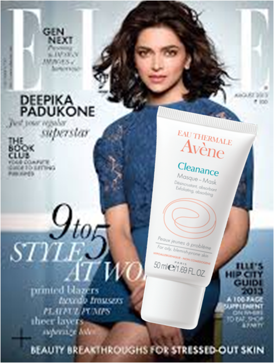 Cleanance mask @ Elle Magazine - August Issue
