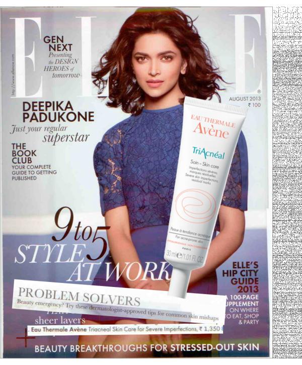 Triacneal @ Elle Magazine - August Issue