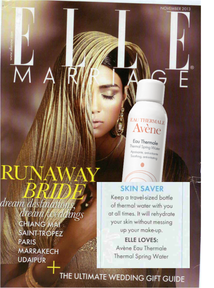 Avène Thermal Spring Water spray @ ELLE MARRIAGE