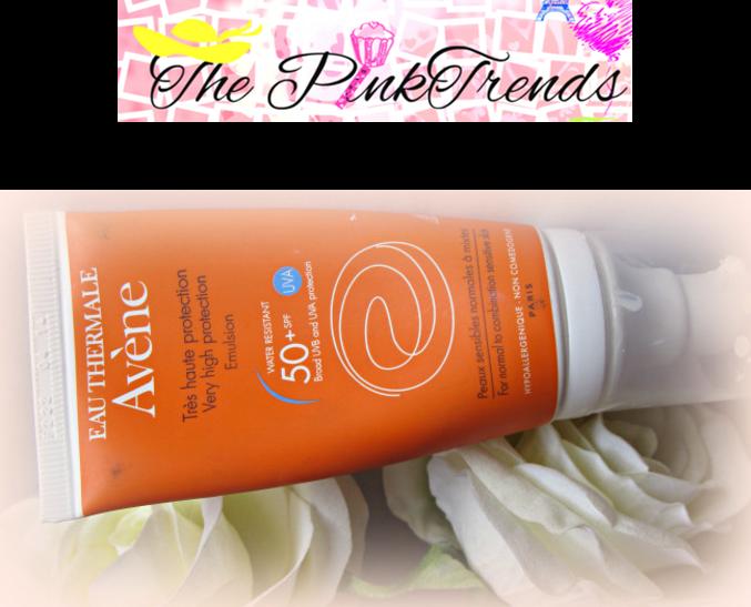 Avene Sunscreen SPF50+ @ Pink Trend Indian beauty blogger