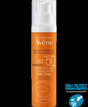 Avène | Protezione solare Pelli sensibili - Trattamento solare anti-età colorato SPF 50+ Protezione solare molto alta