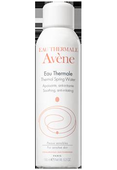 Spray de agua termal de Avène.