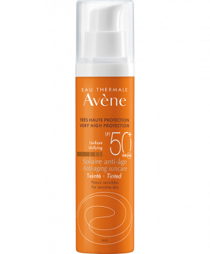 SPF50+ Getinte anti-aging zonnebescherming