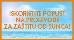 ISKORISTITE POPUST NA PROIZVODE ZA ZAŠTITU OD SUNCA!