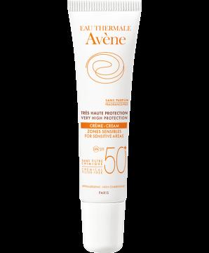 Avène SPF 50+ с минеральным экраном Крем для чувствительных участков кожи