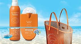 Купите любые два продукта из солнечной линии Avène получите пляжную сумку