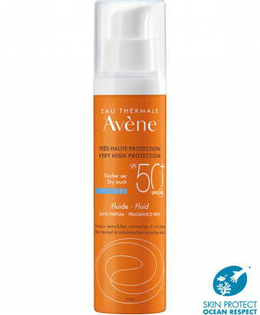 Avene SPF50+ fragrance free fluid
